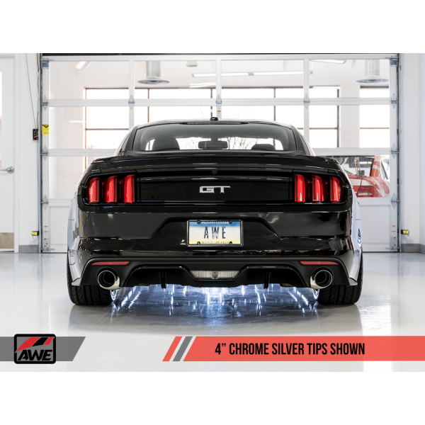 AWE Ford Mustang GT 5.0 S500 15-17 Cat-back Track Edition